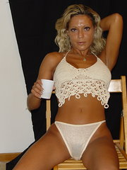 homemade amateur mature wife gets nasty with her dildo